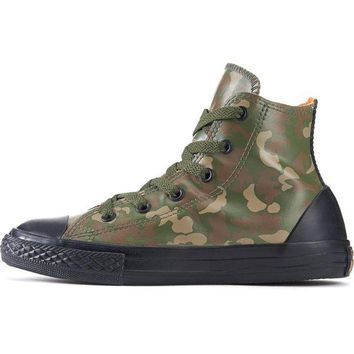 MDIGH3W Converse for Kids: Chuck Taylor All Star Rubber Green Camo Sneakers