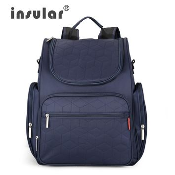 2016 New Arrival Insular Baby Diaper Backpack 210D Nylon heavy Duty Mommy Backpack Nappy Bag Changing Bag