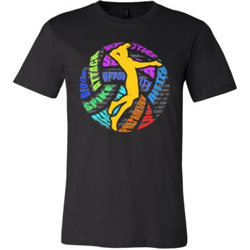 Love Volleyball Game Beach Sports Premium Tee Shirt