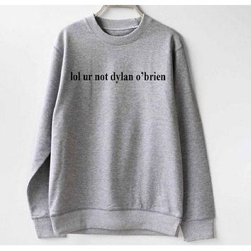 DCCKR2 lol ur dylan obrien white sweater shirt men and women with the same paragraph