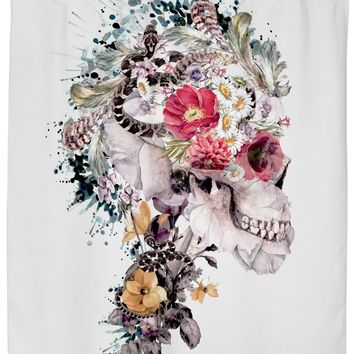 ROSC Skull - Momento Mori X Shower Curtain