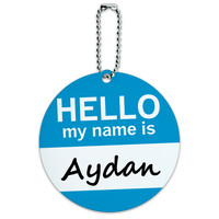 Aydan Hello My Name Is Round ID Card Luggage Tag