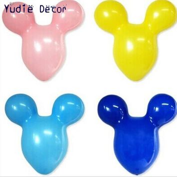 2017 New 10pcs/lot 20inch Mickey Mouse Head balloon Float air inflatable balls For wedding birthday party decoration ballon