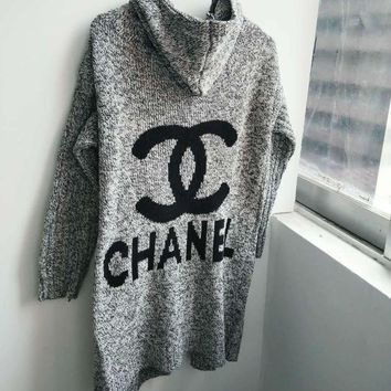 LMFON Chanel LV Louis Vuitton Adidas Hooded Sweater Knit Cardigan Jacket Coat