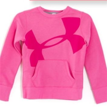 Under Armour Hype Cotton Crew Sweatshirt for Girls 1249820-675