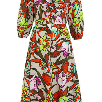 Duro Olowu - Ruffled floral-print cloqué dress