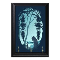 Forest Spirited Away No Face Kaonashi Anime Geeky Wall Plaque Key Holder Hanger
