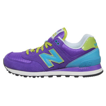 new balance 574 purple/blue carnival jacket trainers