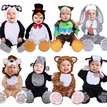 Umorden Halloween Costumes Toddler Infant Baby Animals Tiger Lion Panda Bunny Owl Penguin Costume Cosplay for Baby Girl Boy