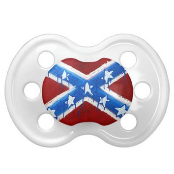 Rebel Flag Baby Pacifier from Zazzle.com