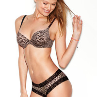 Lace Trim Cheekster Panty - PINK - Victoria's Secret