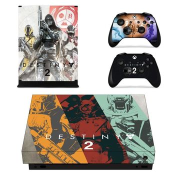 X0063 Game accessories Skin Sticker for Microsoft Xbox One X Console and 2 Controllers skins Stickers for XBOXONE X Enhanced