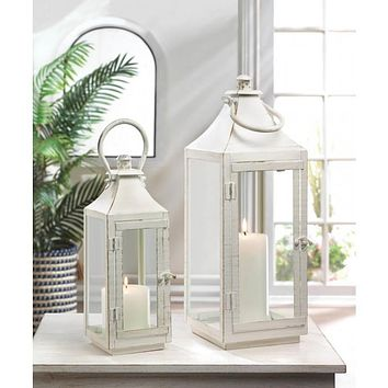 Small and Medium Sized Traditional White Lanterns