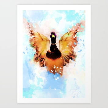 duck art #duck #animals Art Print by jbjart