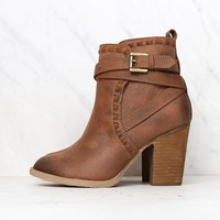 not rated - violeta strappy ankle bootie - tan