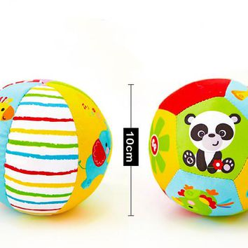2017 Baby Toys Animal Ball Soft Stuffed Toy Balls Baby Rattles Infant Babies Body Building Ball