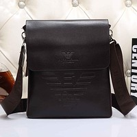 Armani Men Leather Office Bag Satchel Shoulder Bag Crossbody