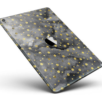 "Black and Gold Watercolor Polka Dots Full Body Skin for the iPad Pro (12.9"" or 9.7"" available)"