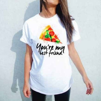 25f14b4a Pizza your my best friend T-Shirt from LionsAndDaisies on Etsy