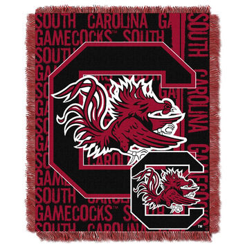 South Carolina Gamecocks NCAA Triple Woven Jacquard Throw (Double Play Series) (48x60)