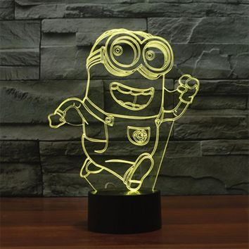 Bob Minion 3D LED Night Light Lamp