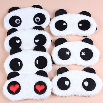 Fashion Cute Cartoon Panda Plush Warm Personality Protective Face Masks Universal Masks Goggles Random pattern HB-0141 = 1705937412