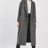 Check Slouch Coat | Topshop
