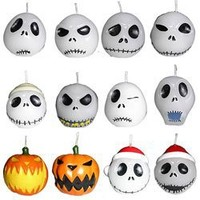 "Neca Nightmare Before Christmas ""12 Jack Heads"" Candle Set"