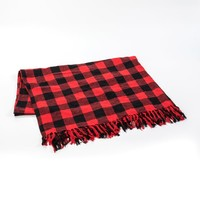NEW RED BUFFALO CHECK THROW