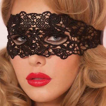 DKF4S 1PCS Eye Mask Women Sexy Lace Venetian Mask For Masquerade Ball Halloween Cosplay Party Masks Female Fancy Dress Costume Masque