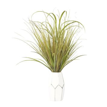 "Onion Grass in Ceramic Vase 22x22x29""H"