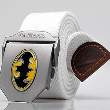 Batman Men's Belts Fashion Casual men belt buckle canvas belt for men