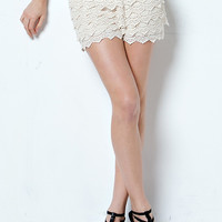 Up All Night Crochet Shorts