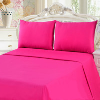 Tache 3 Piece Pink  Superstar Bed sheet set (Queen) (Flat Sheet)