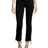 DL 1961 Premium Denim Mara Instasculpt Cropped Straight-Leg Jeans, Black