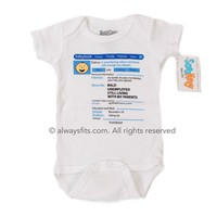 Facebook Boy Baby Bodysuit by Sara Kety - Size 0-6 Months - Whimsical & Unique Gift Ideas for the Coolest Gift Givers