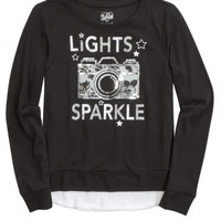 EMBELLISHED ICON SWEATSHIRT | GIRLS FASHION TOPS TOPS | SHOP JUSTICE
