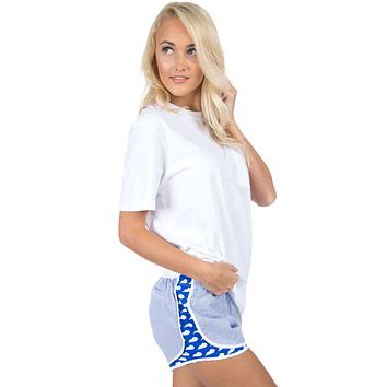 Kentucky Seersucker Shorties in Royal by Lauren James