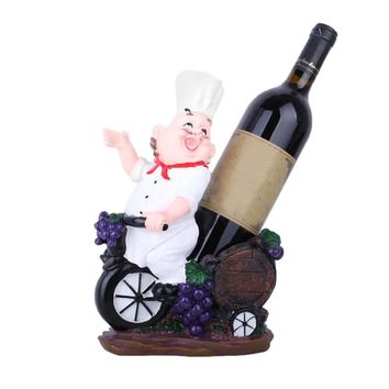 Creative Resin Chef Wine Rack Wine Stand European Wine Bottle Holder Home Wine Ornaments Shelf Crafts Rack Shelf For Party