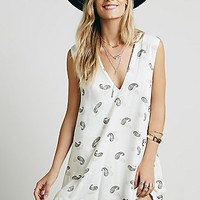Free People Womens Jagger Printed Mini Dress