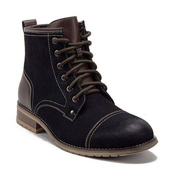 New Men's 806032 Cap Toe Tall Military Combat Zipped Boots