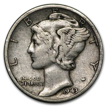 1943-D Mercury Dime Good/VF