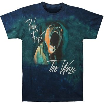 Pink Floyd Men's  Screaming Face Tie Dye T-shirt Blue
