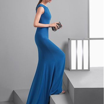 [98.99] Amazing Spandex Jewel Neckline Mermaid Evening Dresses - dressilyme.com