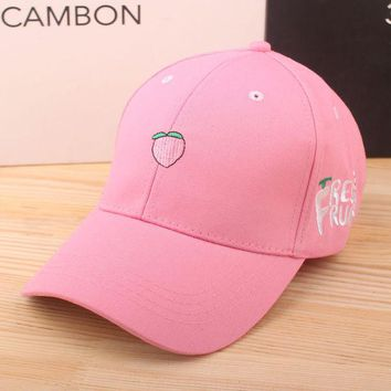 ca DCCKTM4 Korean Embroidery Fruits Lovely Sweets Hats Outdoors Travel Baseball Cap [10683101639]