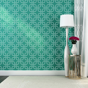 Wall Decal Geometric Abstract  Mod Modern Retro Pattern Shapes Knot Squares