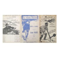 Pre-owned Steinlen Song Sheets - Set of 3