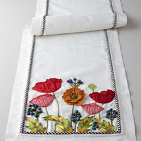 MacKenzie-Childs Red Poppy Runner