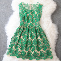 Lace Dress in Green