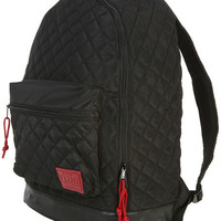 The Standard Backpack in Quilted Black & Red